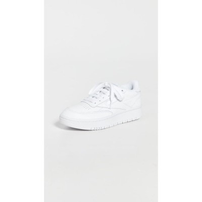 リーボック Reebok レディース スニーカー シューズ・靴 Club C Double Sneakers Wht/Wht/Cdgry