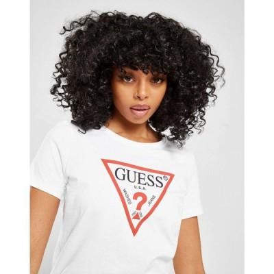 ゲス GUESS レディース Tシャツ トップス Core Logo T-Shirt white