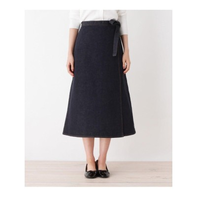 デニムロングラップスカート