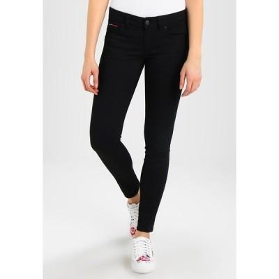 トミーヒルフィガー デニムパンツ レディース ボトムス Jeans Skinny Fit - black denim
