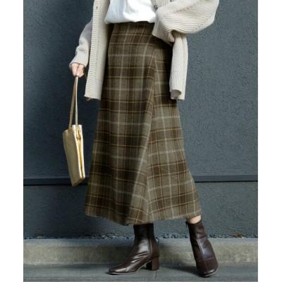Ray Cassin / BIGチェックAラインスカート WOMEN スカート > スカート