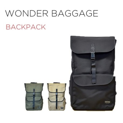 WONDER BAGGAGE GOODMANS BACKPACK ワンダーバゲージ グッドマンズ バックパック WB-G-018 バッグ かばん ブラ