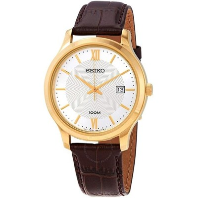 腕時計  Seiko Neo Classic Quartz White Patterned Dial Men's Watch SUR298P1 輸入品