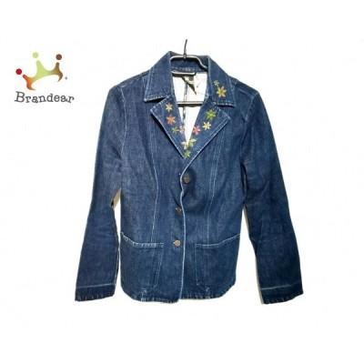ホコモモラ JOCOMOMOLA ジャケット サイズ40 XL レディース ネイビー デニム/刺繍   スペシャル特価 20201231