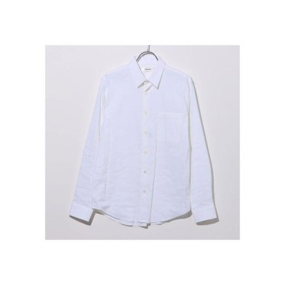 リネーム Rename リネン混スタンダードカラーシャツ (オフホワイト)