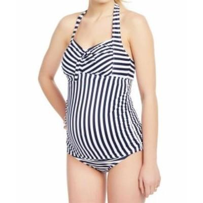 Motherhood Maternity  スポーツ用品 スイミング Beach Bump by Motherhood Maternity Womens Swimwear Blue Medium M Tankini #203