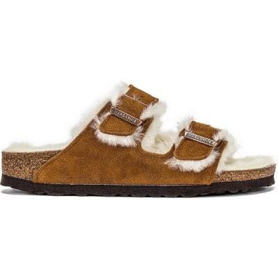 ビルケンシュトック BIRKENSTOCK レディース サンダル・ミュール シアリング シューズ・靴 Arizona Shearling Sandal Mink Natural