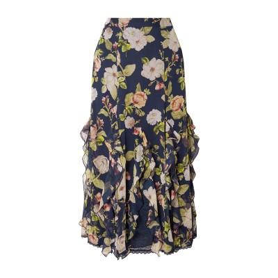 アリス・アンド・オリビア ALICE + OLIVIA 7分丈スカート ダークブルー 0 シルク 100% / ナイロン 7分丈スカート