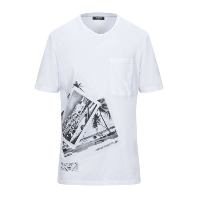 +39 MASQ T シャツ ホワイト L コットン 100% T シャツ