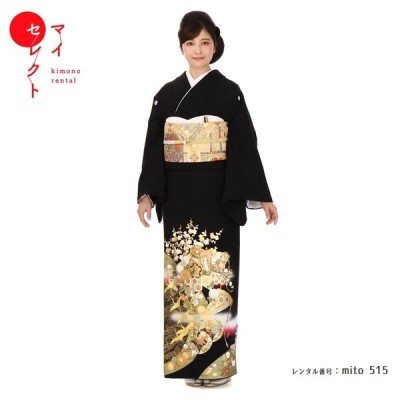 留袖レンタル mito-515 桂由美 御所物語 トール 伝統の飛翔御所鶴を金彩の表現にて美意識との調和を奏でます