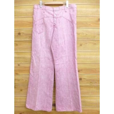 古着 レディース パンツ 70年代 ピンク 霜降り【spe】