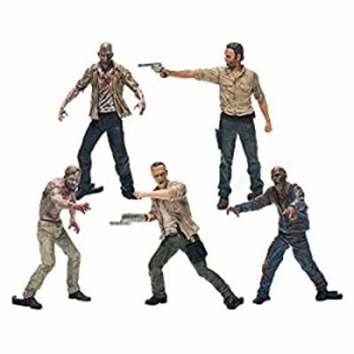 【中古】【輸入品未使用】Walking Dead Tv Building Set 5 Figure Pa [並行