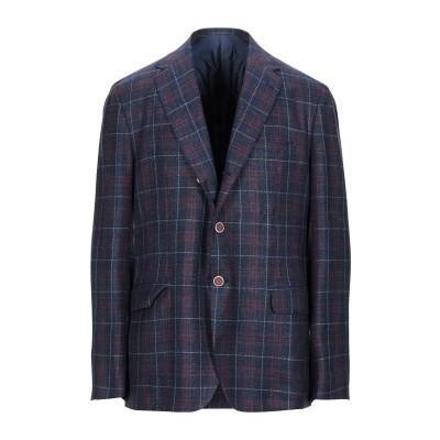 サルトリオ SARTORIO テーラードジャケット ブルー 54 ウール 69% / シルク 16% / 麻 15% テーラードジャケット