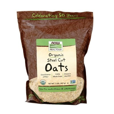 ナウフーズ オーガニックスチールカットオーツ 907g Now Foods Organic Steel Cut Oats 2 lbs