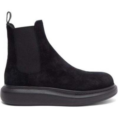 アレキサンダー マックイーン Alexander McQueen メンズ ブーツ チェルシーブーツ シューズ・靴 Hybrid exaggerated-sole suede Chelsea