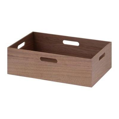4個入り 突板スタキングボックス L-L 木箱 小物入れ 収納ボックス リビング キッチン 台所 玄関 収納 ウッドボックス 新聞ストッカー 野菜