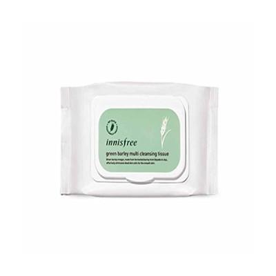 イニスフリーグリーンボレイクレンジングティッシュ50シートx 1個 / Innisfree Green Barley Cleansing Tissue 50 Sheets x 1pcs [
