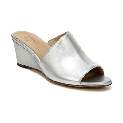 ナチュライザー サンダル シューズ レディース Sansa Slide Wedges Silver Leather