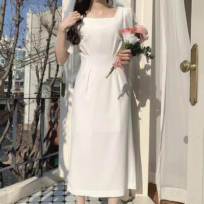 ワンピース パーティードレス 花嫁ミディアムドレス ウェディングドレス 簡約 花嫁二次会 演奏会 パーティー フォーマル 披露宴 成人式 挙式