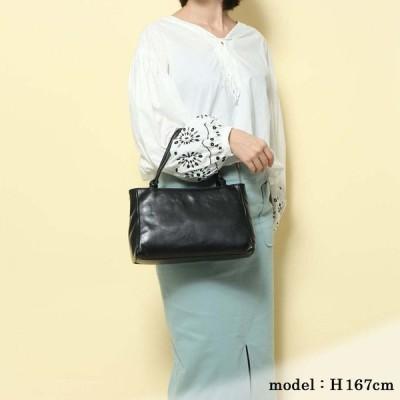 720011 日本製レザーブラックフォーマル手提げバッグ