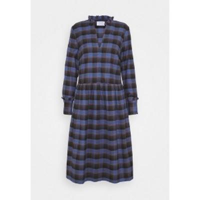 リバティーン リバティーン レディース ワンピース トップス ALLEY DRESS - Day dress - royal blue check royal blue check