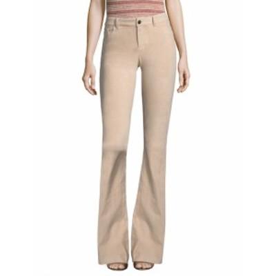アリス+オリビア レディース パンツ Suede Bell Jeans