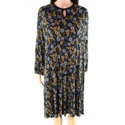 ファッション ドレス Emaline NEW Black Womens Size 2X Plus Keyhole Floral-Print Sheath Dress