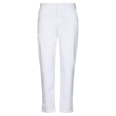 TRU TRUSSARDI パンツ ホワイト 34 コットン 98% / ポリウレタン 2% パンツ