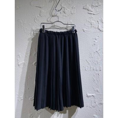 ゴーシュ/ウールプリーツスカート/2/BLK[▼]