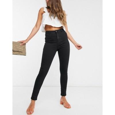 アーバン ブリス レディース デニムパンツ ボトムス Urban Bliss high waisted skinny jeans in black Black