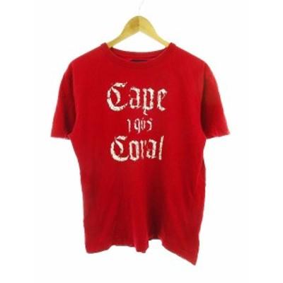 【中古】バックナンバー BACK NUMBER Tシャツ カットソー 半袖 プリント XL 赤 レッド /CK メンズ
