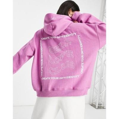 ザ クチュール クラブ レディース パーカー・スウェット アウター The Couture Club hoodie with logo print in pink