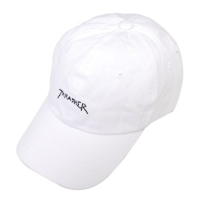 【SALE/セール】スラッシャー THRASHER GONZ LOGO SPORTS 6PANEL CAP WHITE/ホワイト 6パネルキャップ ローキャップ 帽子