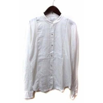 【中古】アニエスベー agnes b. シャツ ブラウス長袖 3 白 ホワイト /YI レディース