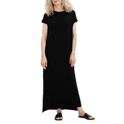 エイリーンフィッシャー レディース ワンピース トップス Crewneck Viscose Jersey High-Low Dress