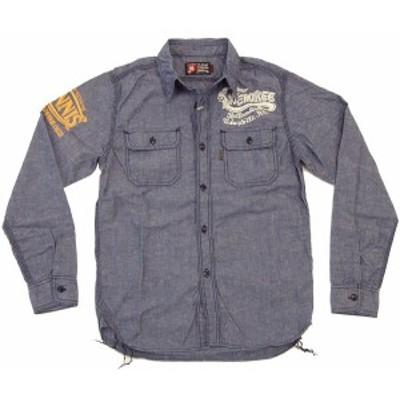 mws 長袖シャツ ネップシャンブレーアメカジワークシャツ MWS-1011004 #77紺 新品