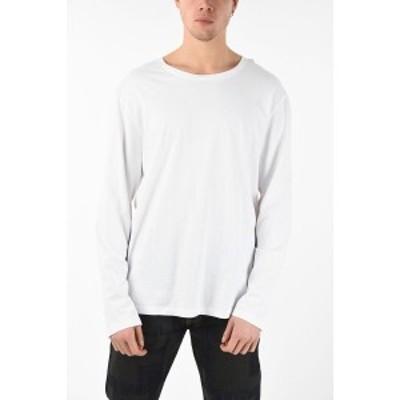 FAITH CONNEXION/フェイス コネクション White メンズ Cotton Printed Long Sleeve T-Shirt dk
