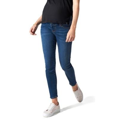 ブランキ  デニム ボトムス レディース Ripped Belly Support Maternity Skinny Jeans Medium Wash