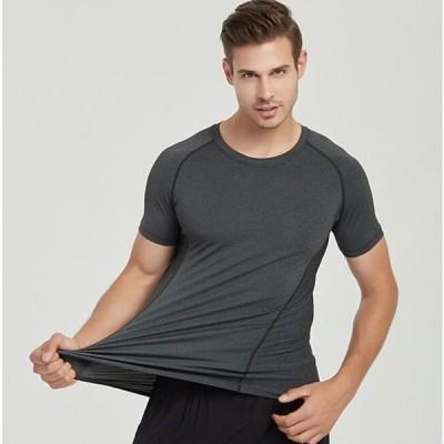 二枚送料無料 メンズTシャツ フィットネスTシャツ ジャージ 通気性抜群 吸汗速乾 ランニング トレーニング サイクル 6色