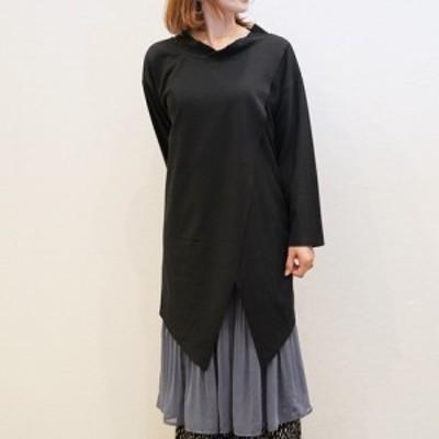 2020新作 33℃ フロントスリットアンサンブルop || レディースアパレル ワンピース ドレス