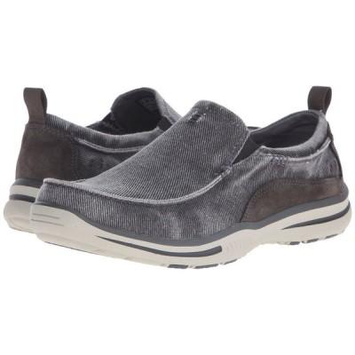 スケッチャーズ SKECHERS メンズ ローファー シューズ・靴 Relaxed Fit Elected - Drigo Charcoal Canvas