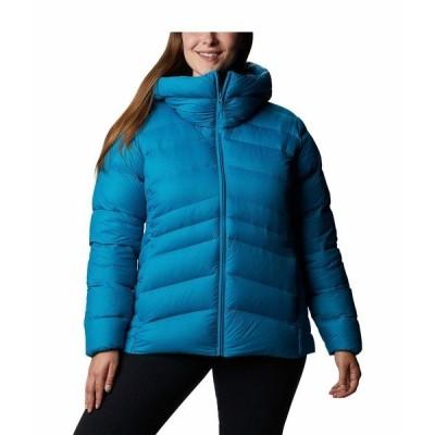 コロンビア コート アウター レディース Plus Size Autumn Park Down Hooded Jacket Fjord Blue/Dark Nocturnal