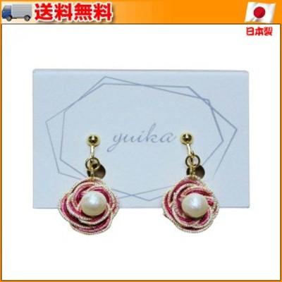 水引アクセサリー イヤリング yuika-139 ▼水引を使用した優婉なイメージのイヤリングです