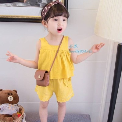 ベビー服 女児 ファッション かわいい ノースリーブ タンクトップ カジュアル 乳幼児 ベビーファッション キッズ 子供服 セットアップ ベビー 男児