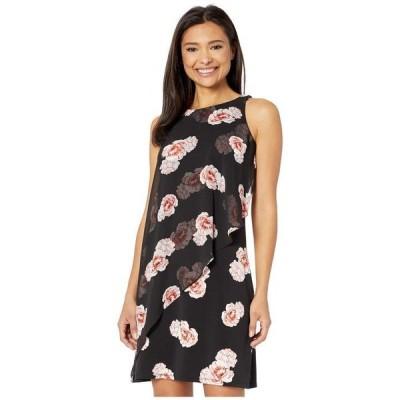 トミー ヒルフィガー レディース ワンピース トップス Tea Rose Jersey Chiffon A-Line Dress