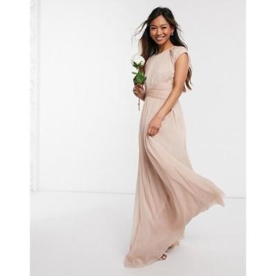 エイソス レディース ワンピース トップス ASOS DESIGN Bridesmaid ruched bodice maxi dress with cap sleeve detail