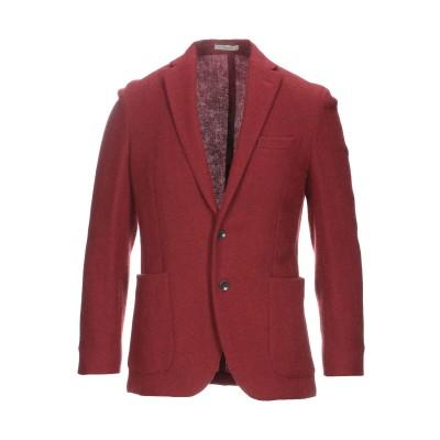ボリオリ BOGLIOLI テーラードジャケット 赤茶色 50 ウール 100% テーラードジャケット
