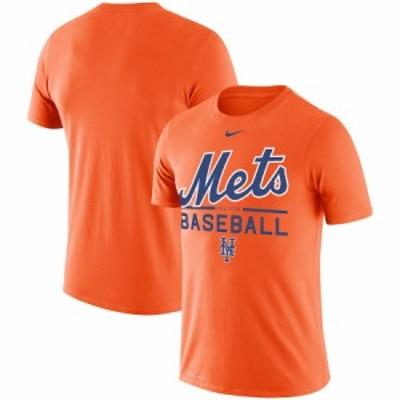 ナイキ メンズ New York Mets Nike Wordmark Practice Performance T-Shirt Tシャツ 半袖 Orange