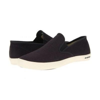SeaVees シービーズ メンズ 男性用 シューズ 靴 スニーカー 運動靴 02/64 Baja Slip-on Standard - Slate Navy Vintage Wash Linen