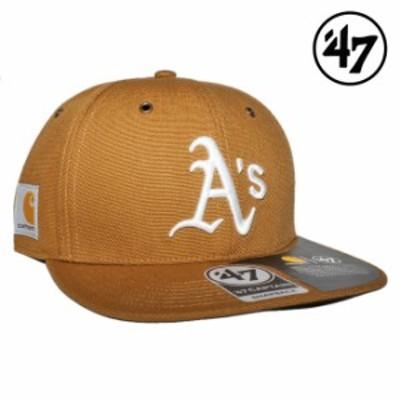 47ブランド カーハート コラボ スナップバックキャップ 帽子 メンズ レディース 47BRAND CARHARTT MLB オークランド アスレチックス フリ